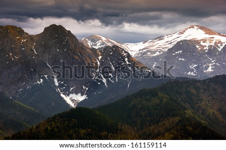 Polish mountain - stock photo