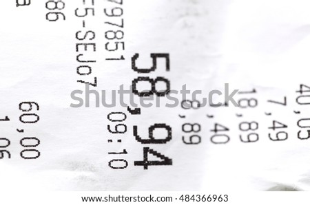 Polish sales receipt isolated on white background