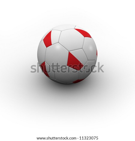Polish Soccer Ball - very highly detailed Polish soccer ball with shadow
