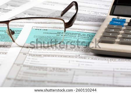 Polish tax return - stock photo