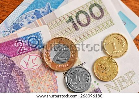 Polish zloty - stock photo