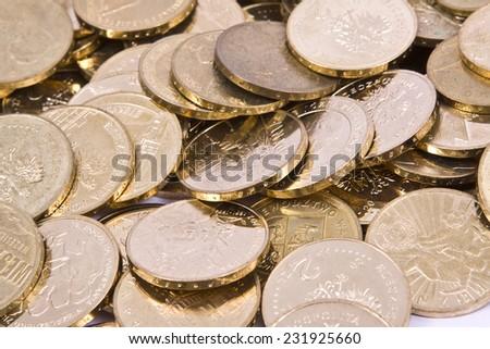 Polish Zloty PLN coins  - stock photo