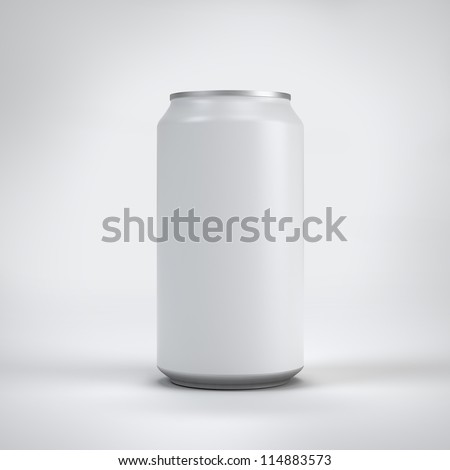 polished can on white