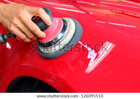 Polished car - stock photo
