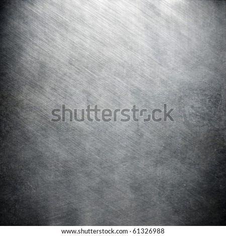 Polished iron plate - stock photo