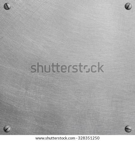 Polished metal plate - stock photo