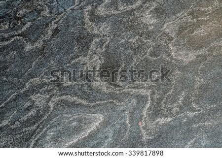 Polished quartzite tile flooring - stock photo