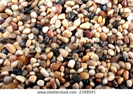 Polished stones background(Pebbles)