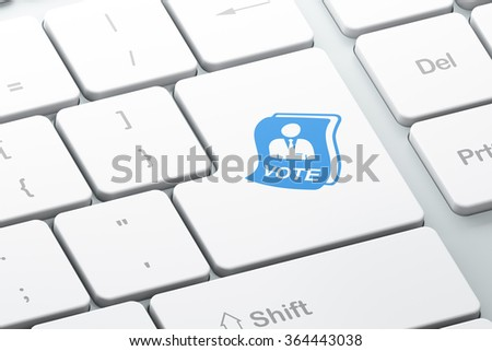 Political concept: Ballot on computer keyboard background