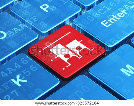 Political concept: computer keyboard with Election icon on enter button background, 3d render - stock photo