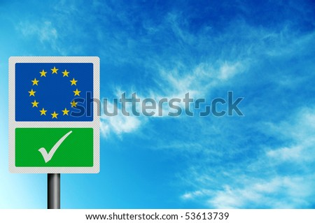 Political issues series: 'Yes to the EU' concept. Photo realistic, with space for your text