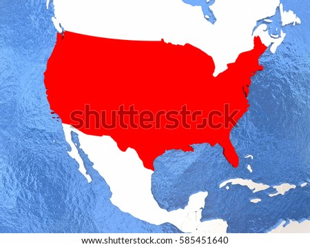 Nation Map Us Th July Independence Stock Vector - Us political map red blue