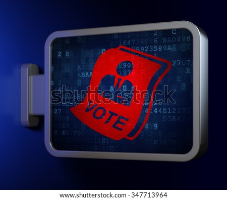 Politics concept: Ballot on advertising billboard background, 3d render - stock photo