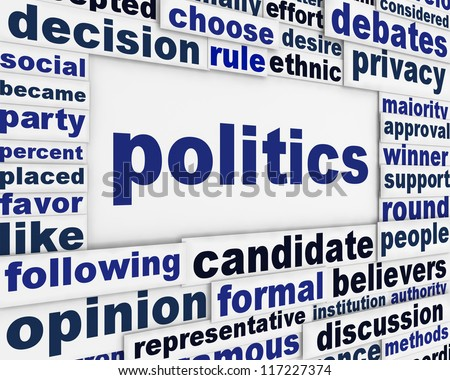 Politics poster design. Political message background concept - stock photo
