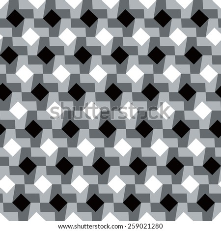 Polka Dot Houndstooth pattern in grey repeats seamlessly. - stock photo