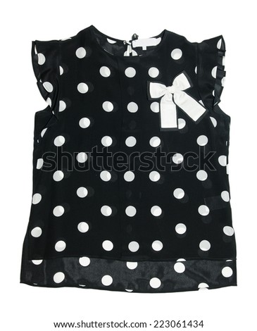 Polka dot summer top with a bow