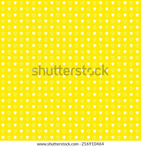 Polka dots seamless pattern with hearts - stock photo