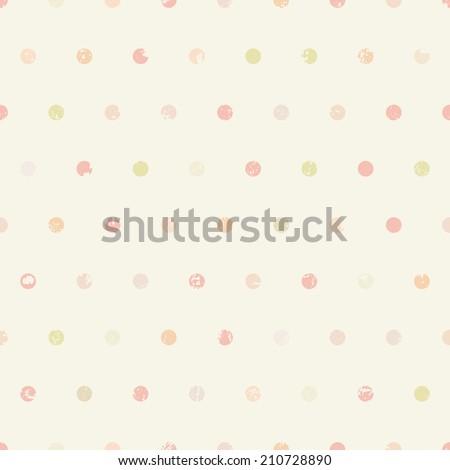 Polka dots vintage seamless pattern - stock photo