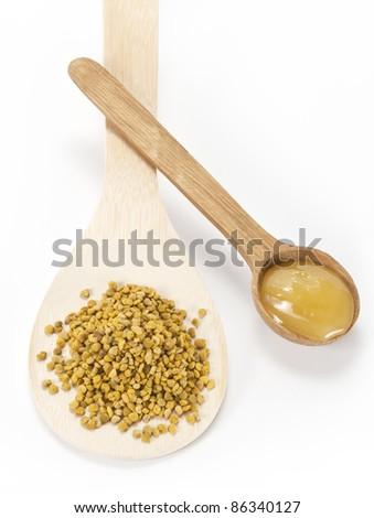 pollen and honey - stock photo