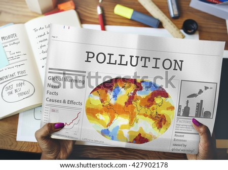 Pollution Dirty Chemical Problem Smog Smoke Concept - stock photo