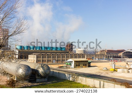 pollution industry - stock photo