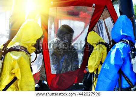 pollution industry concept  , Decontamination  for Hazard emergency response . - stock photo
