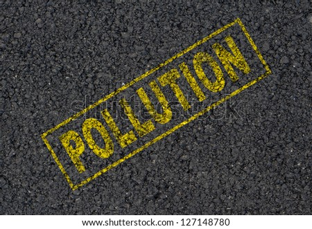Pollution sign background