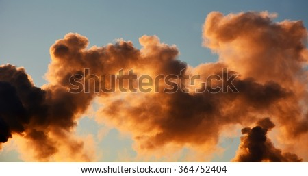 Pollution smoke - stock photo