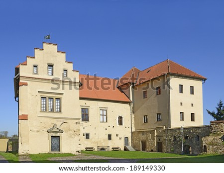 Polna - Former Castle, Chateau and now a museum. Polna is a historic town in East Bohemia, the historic core of the city is an urban conservation area. Czech Republic - stock photo