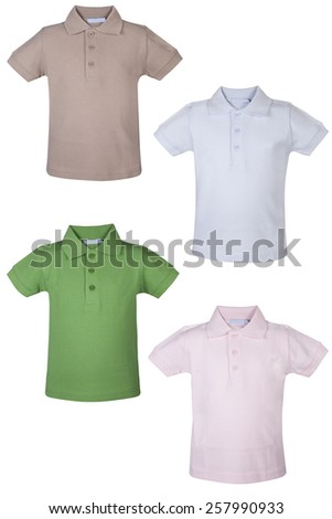 Polo Man Shirt isolated on white background.