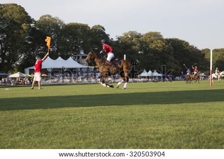polo match goal - stock photo