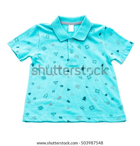 Polo shirt and clothes isolated on white background