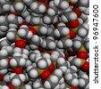 Polydimethylsiloxane (silicone) polymer molecule, chemical structure, detail. Polydimethylsiloxane is also known as PDMS or dimethicone. - stock photo