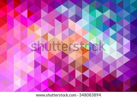 Polygon. Colorful modern low poly abstract background - stock photo