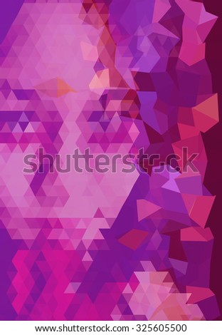 polygon photo , portrait of beautiful woman look mysterious and attractive  - stock photo