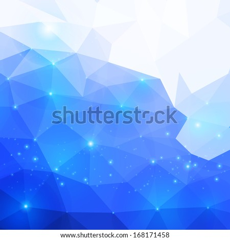 Polygonal abstract pink background for business presentation - stock photo