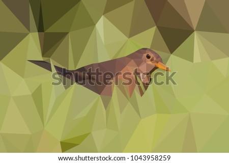 stock-photo-polygonal-art-style-brown-bi