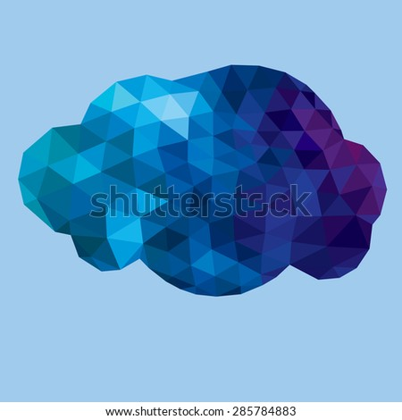 polygonal cloud