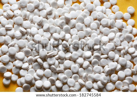 polymer resins for injection moulding process - stock photo