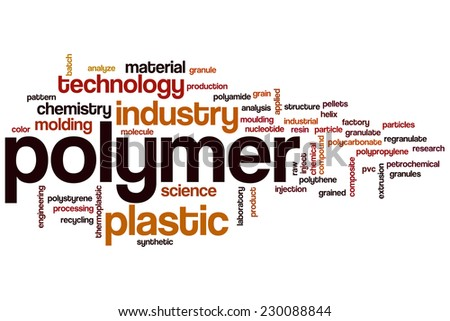 Polymer word cloud concept - stock photo