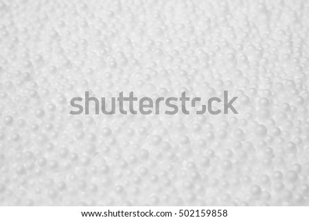 Polystyrene foam background.