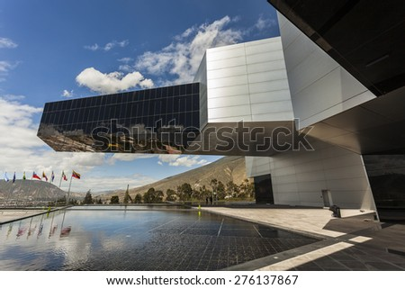 POMASQUI, ECUADOR - APRIL 15:  Building UNASUR, Union of South American Nations. It is the most modern buildings in the region, located close to half the world. April 15, 2015 in Pomasqui, Ecuador