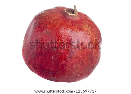 Pomegranate fruit of a food and has beneficial properties.