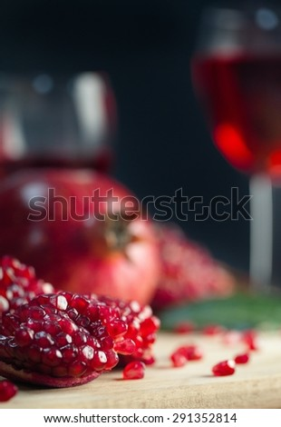 Pomegranate, Healthy Lifestyle, Fruit.