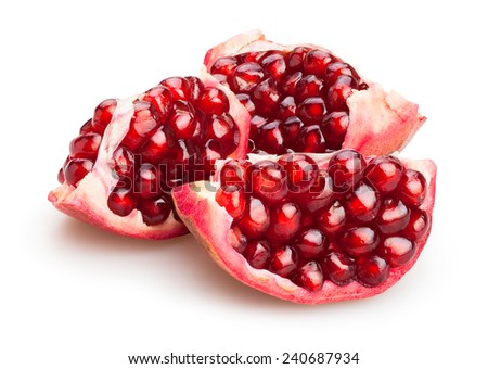 pomegranate isolated - stock photo