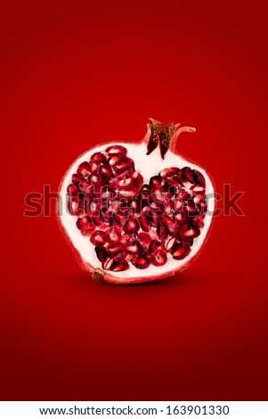 Pomegranate isolated on background