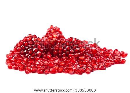 Pomegranate isolated on white background. - stock photo