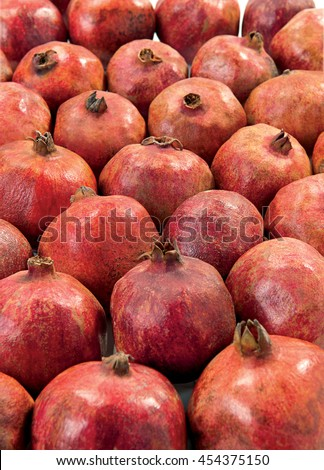 Pomegranate juicy fruit fresh and sweet faw food - stock photo