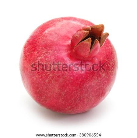 Pomegranate on white background - stock photo