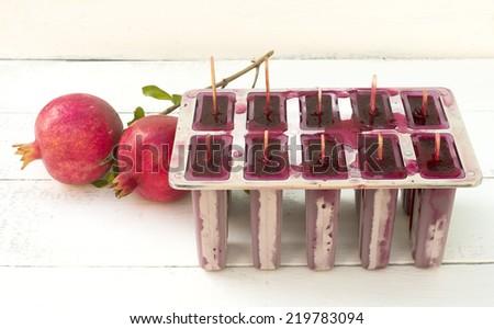 pomegranate popsicle